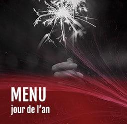 Menu jour de l'an Cabaret Diner Spectacle Paris