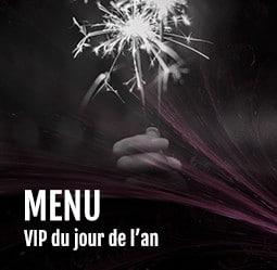 Menu VIP du jour de l'an Cabaret Diner Spectacle Paris